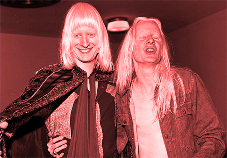 Edgar & Johnny Winter photograph