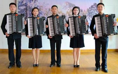 Young-accordion-players-from-the-prestigious-Kum-Song-Music-School-perform-in-Pyongyang-North-Korea