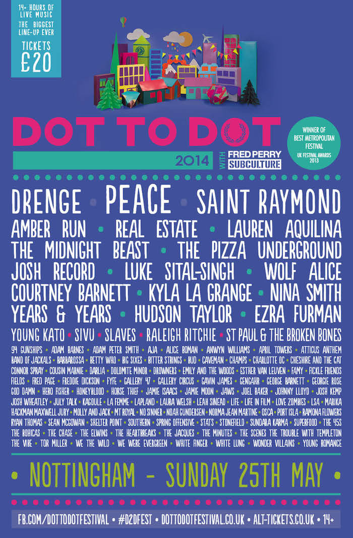Dot To Dot 2014 Nottingham poster