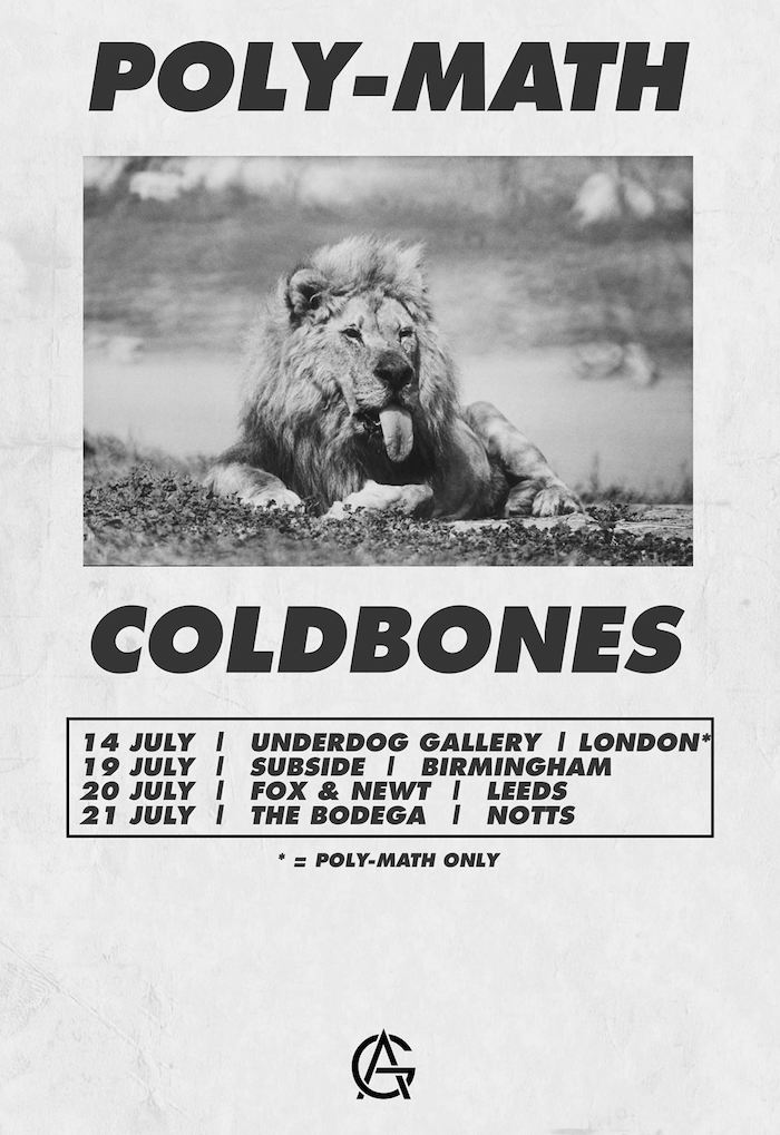 POLY-MATH COLDBONES tour poster image