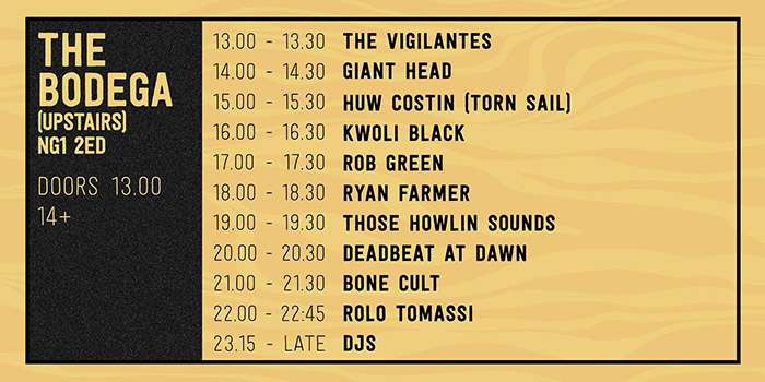 Upstairs running order image